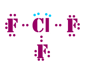 I 3 Lewis Dot Structure ClF3 lewis dot structure