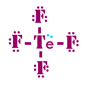 F Lewis Dot Structure Lewis structure of TeF...